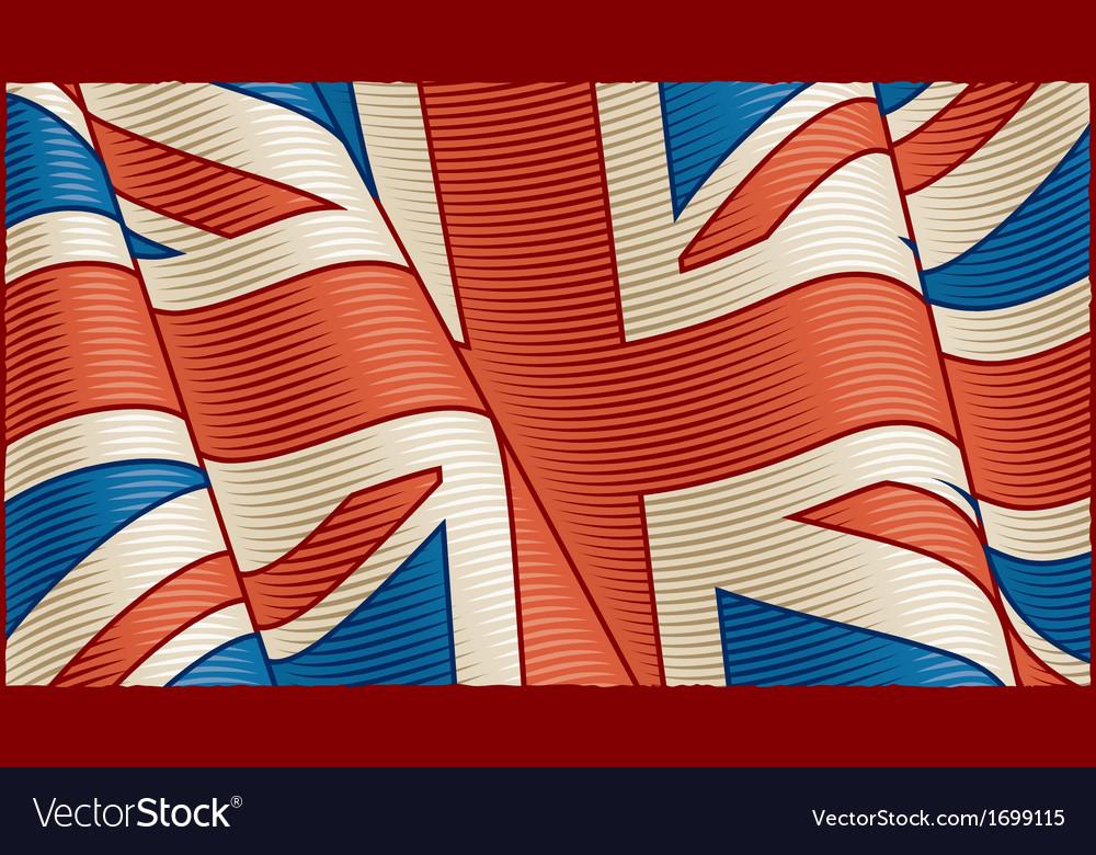 Vintage british flag background vector | Price: 1 Credit (USD $1)