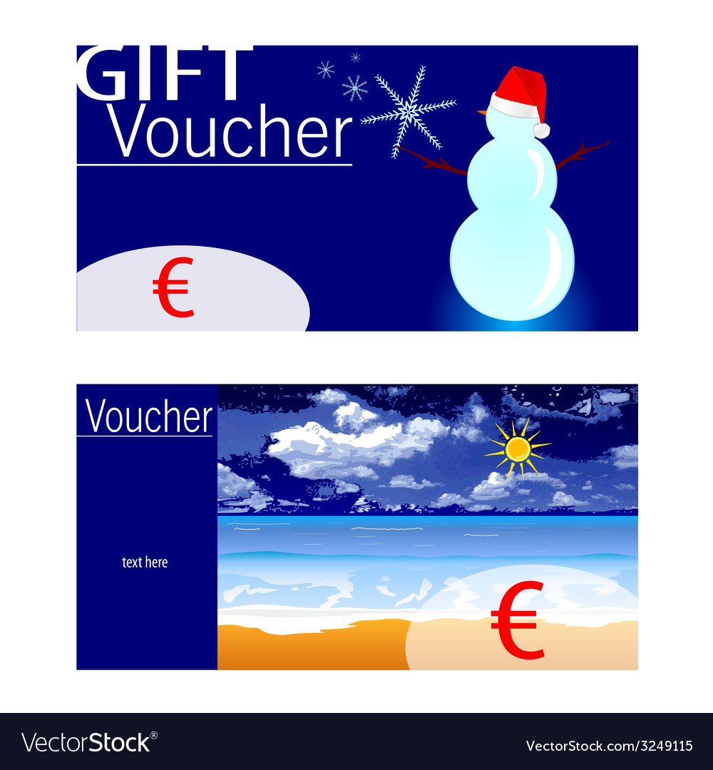 Voucher for winter and summer with snowman and vector | Price: 1 Credit (USD $1)