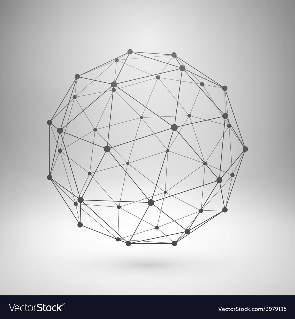 Wireframe mesh polygonal sphere vector | Price: 1 Credit (USD $1)