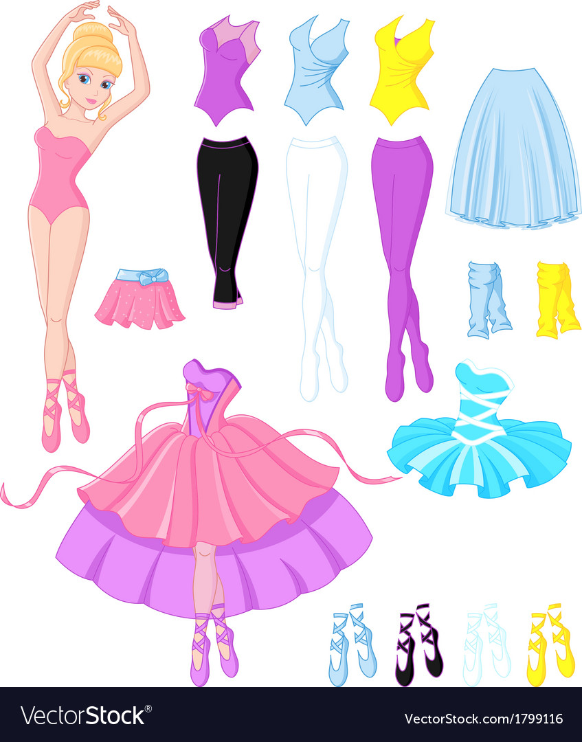 Ballerina dresses vector | Price: 1 Credit (USD $1)