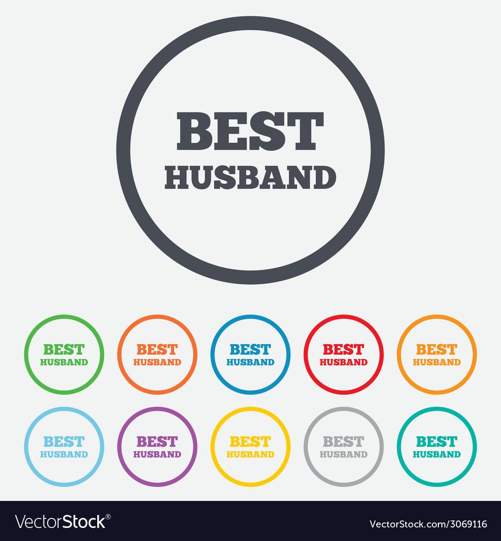Best husband sign icon award symbol vector | Price: 1 Credit (USD $1)
