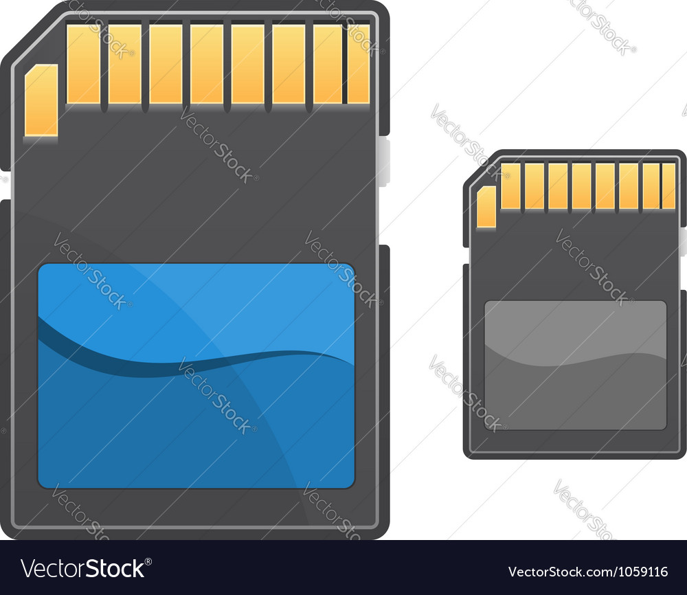 Digital memory card vector | Price: 1 Credit (USD $1)