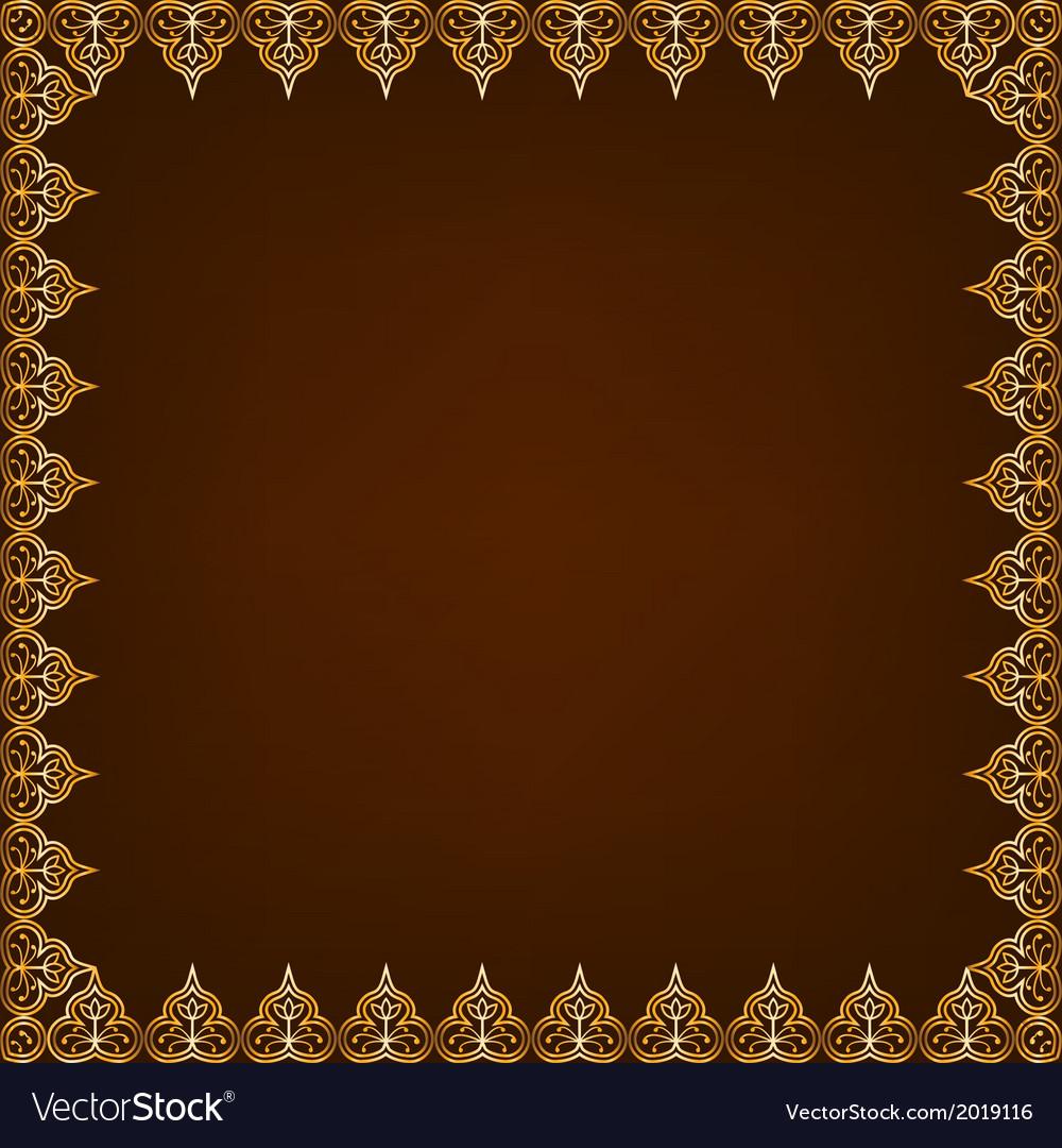 Eastern pattern frame vector | Price: 1 Credit (USD $1)