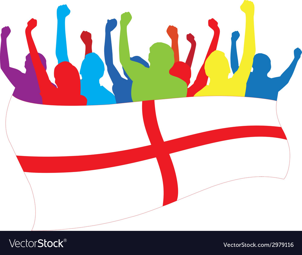 England fans vector | Price: 1 Credit (USD $1)