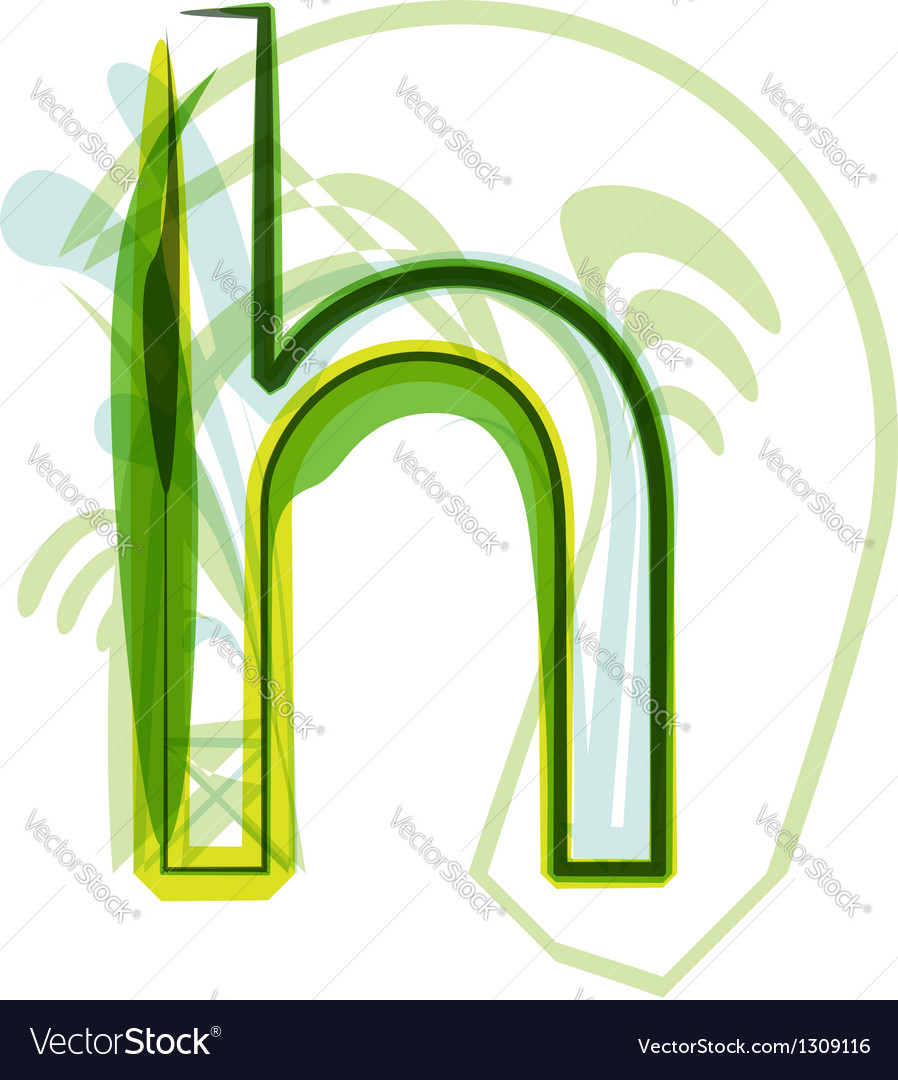 Green letter h vector | Price: 1 Credit (USD $1)