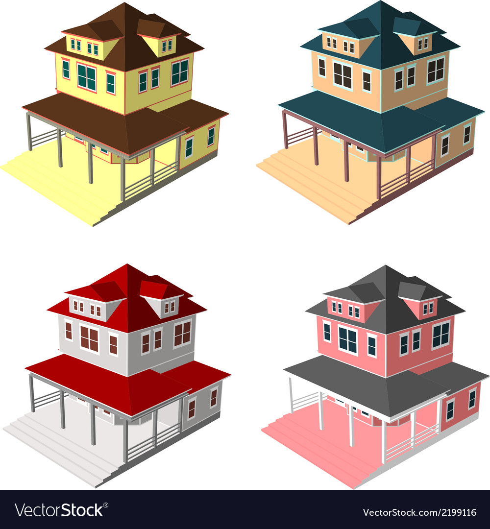 Isometric house style 9 vector | Price: 1 Credit (USD $1)