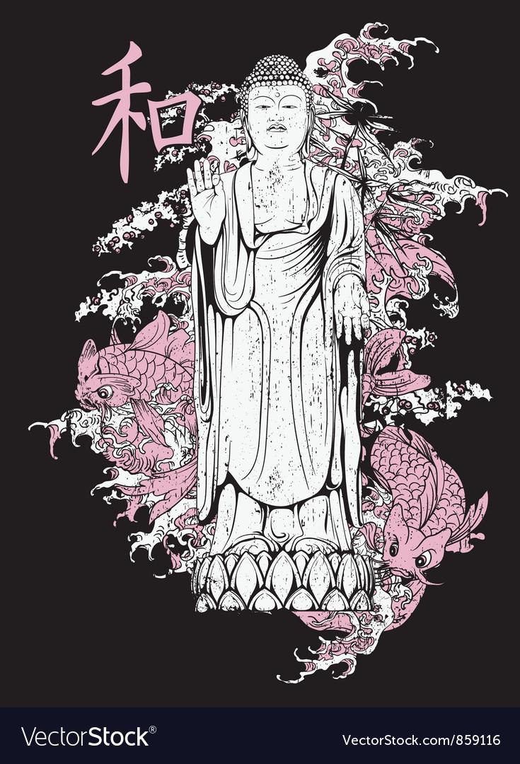 Japanese t-shirt design vector | Price: 3 Credit (USD $3)