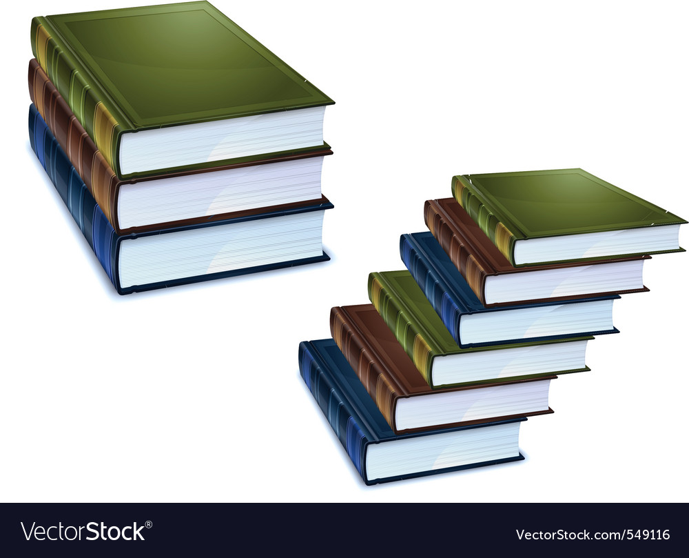 Library books vector | Price: 3 Credit (USD $3)