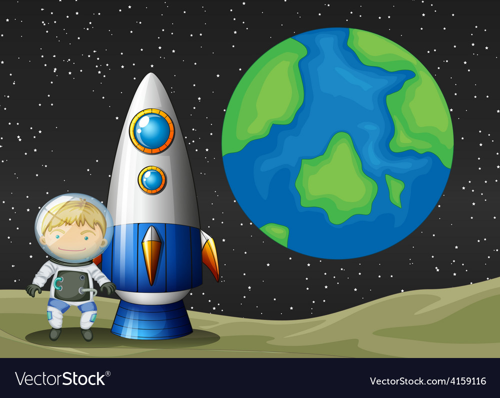 Space and astronaunt vector | Price: 3 Credit (USD $3)