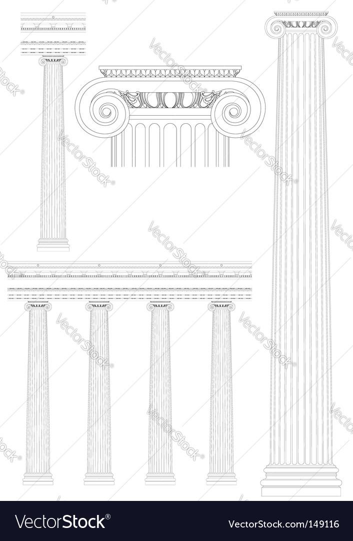 Vintage architecture vector | Price: 1 Credit (USD $1)