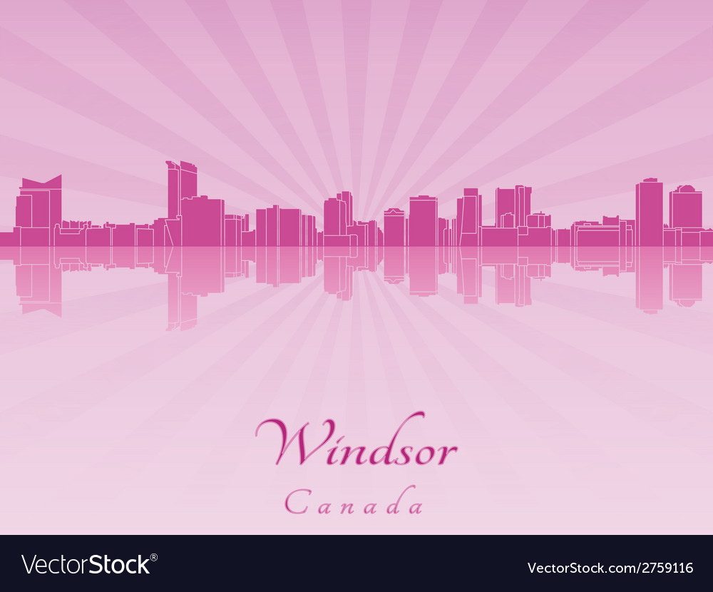 Windsor skyline in radiant orchid vector | Price: 1 Credit (USD $1)
