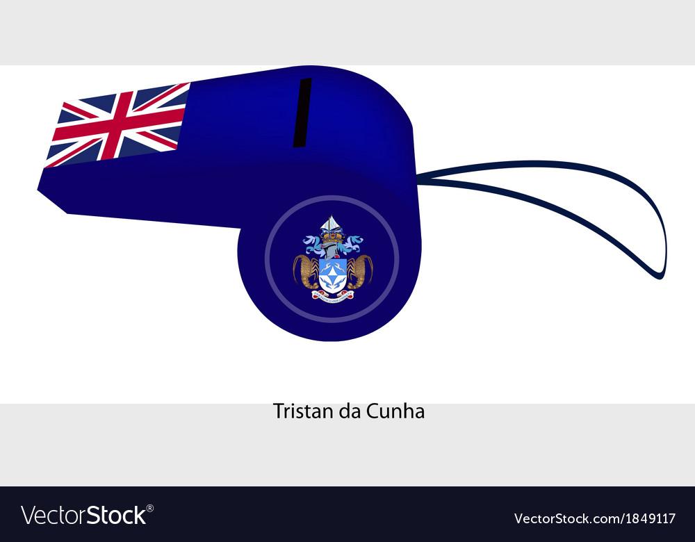 A blue whistle of tristan da cunha vector   Price: 1 Credit (USD $1)