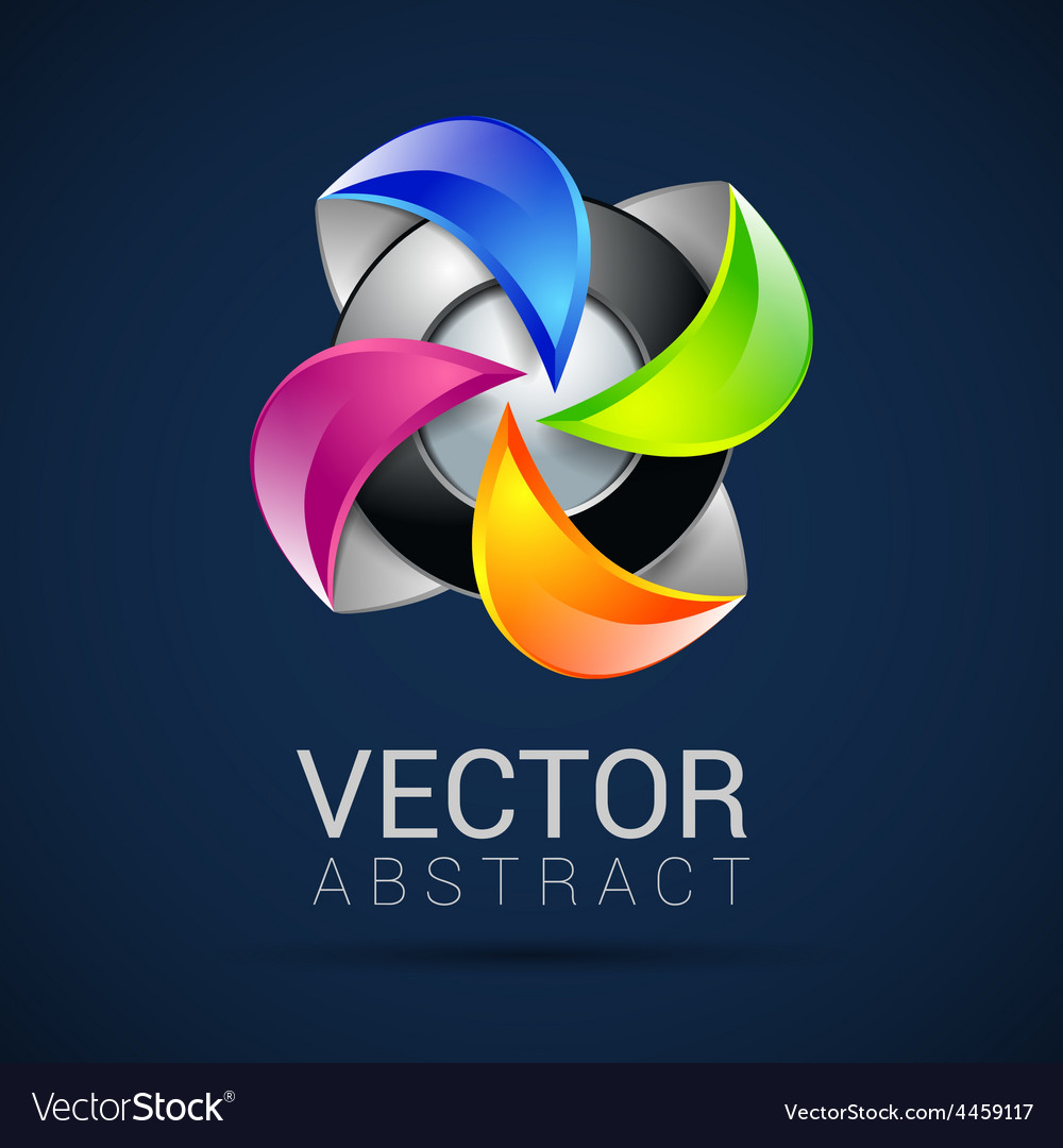 Abstract 3d sphere logos carving set logo spheres vector | Price: 1 Credit (USD $1)