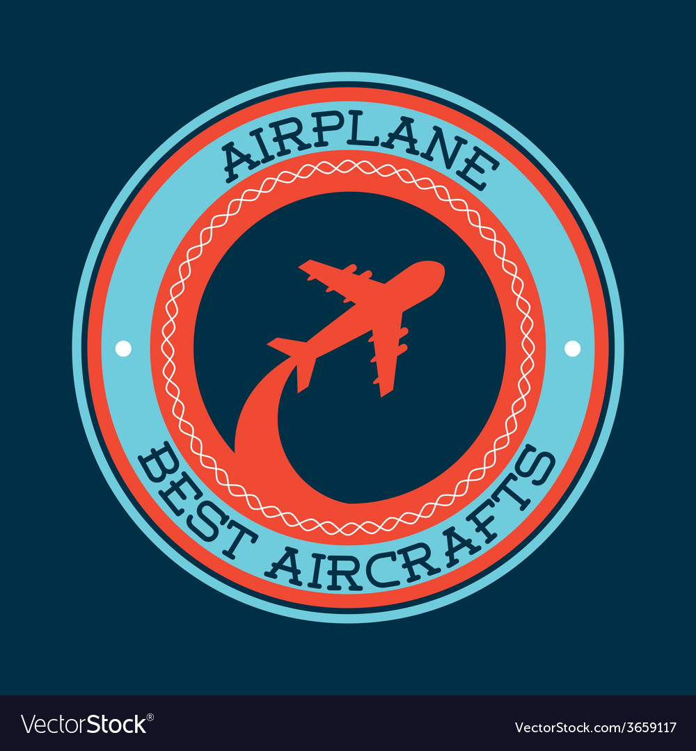 Airplane travel vector | Price: 1 Credit (USD $1)