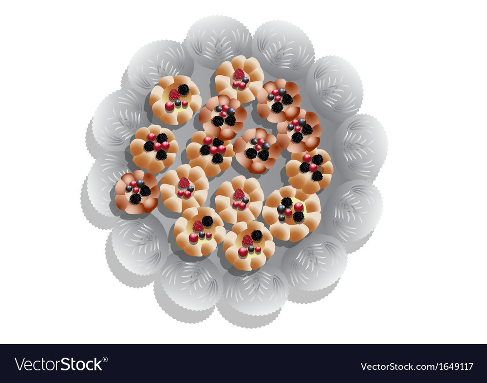 Cookies on a tray vector | Price: 1 Credit (USD $1)