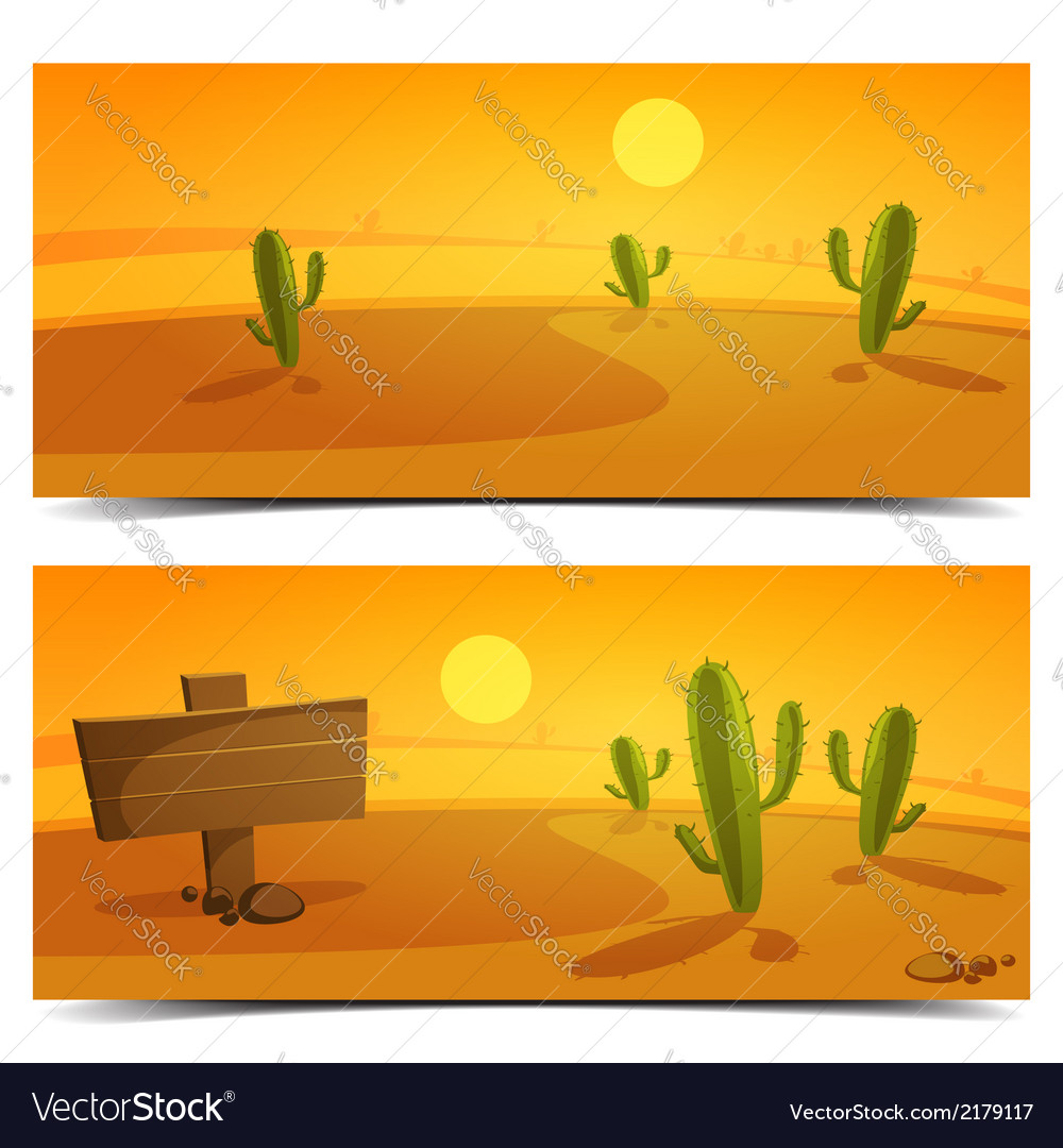 Desert banners vector | Price: 3 Credit (USD $3)