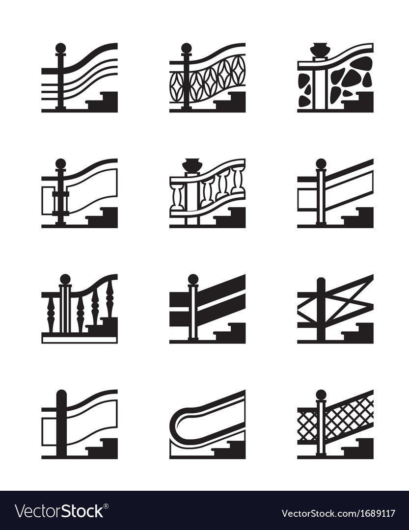 Different types of railings vector | Price: 1 Credit (USD $1)