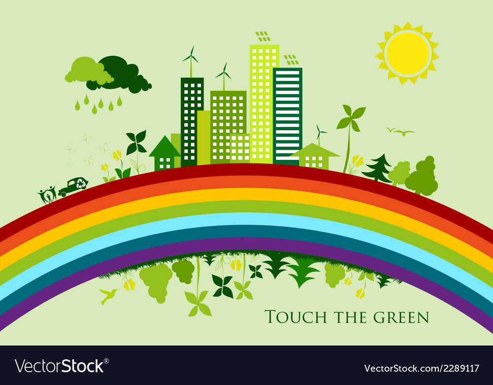 Environmental conservation cities green city vector   Price: 1 Credit (USD $1)