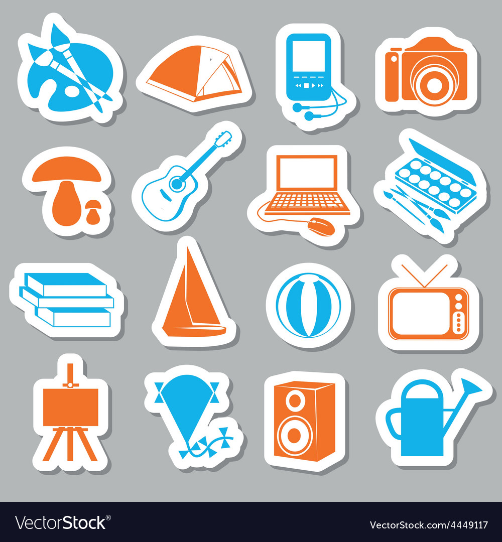 Hobby stickers vector | Price: 1 Credit (USD $1)