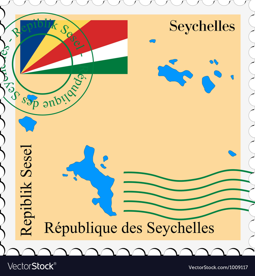 Mail to-from seychelles vector | Price: 1 Credit (USD $1)