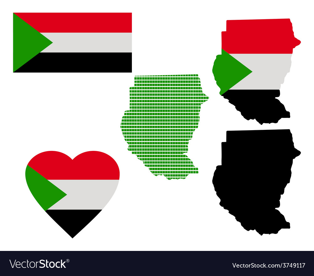 Map of the republic of sudan vector | Price: 1 Credit (USD $1)