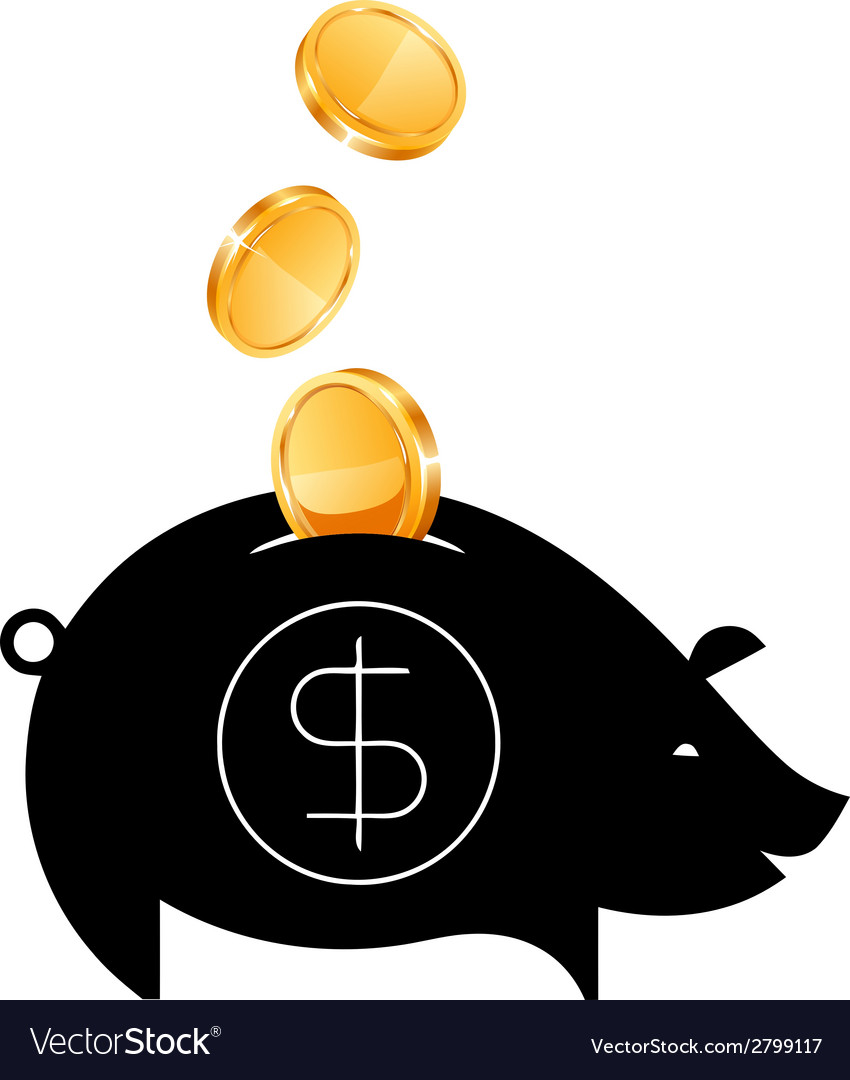 Money saving bank vector | Price: 1 Credit (USD $1)