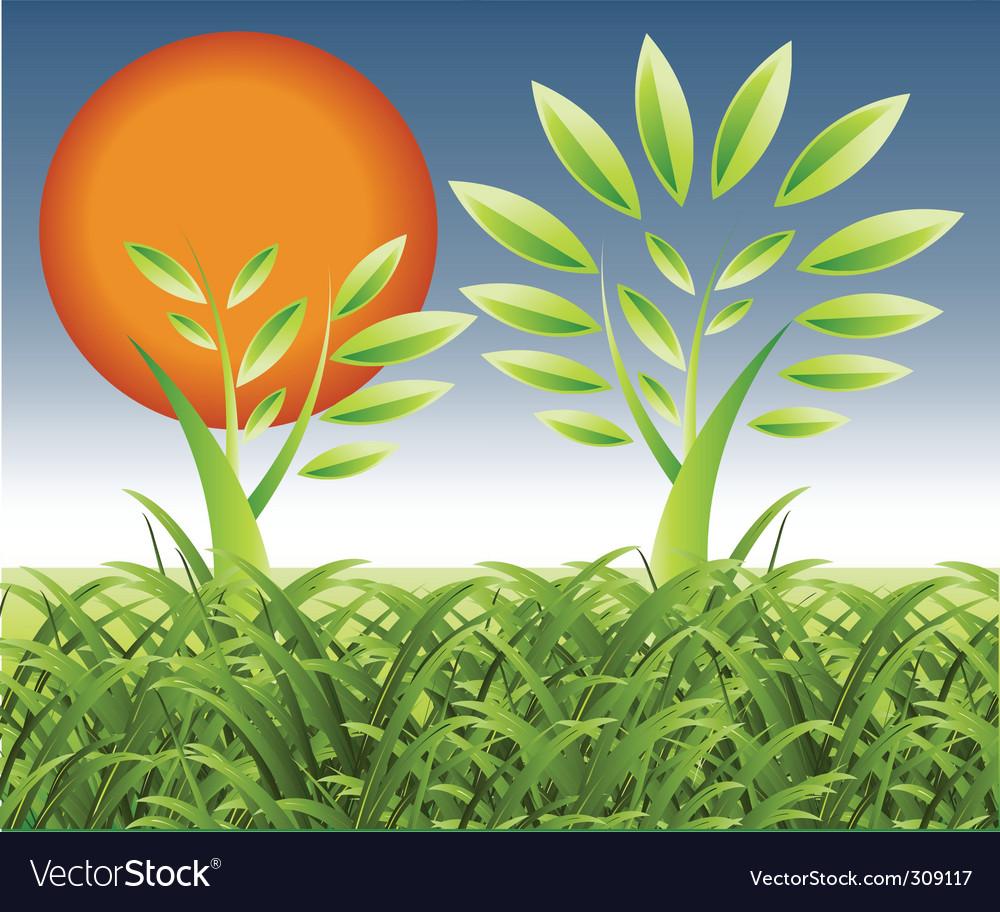 Natural landscape vector | Price: 1 Credit (USD $1)