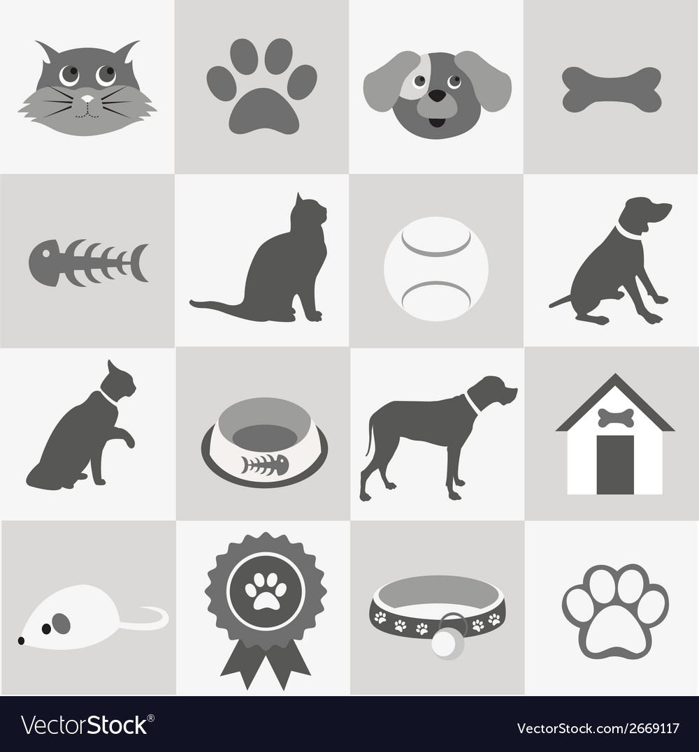 Pet icon set vector | Price: 1 Credit (USD $1)