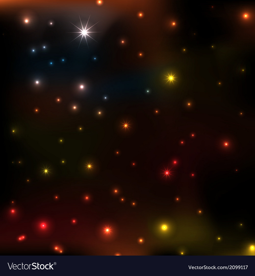 Star coloeful background vector