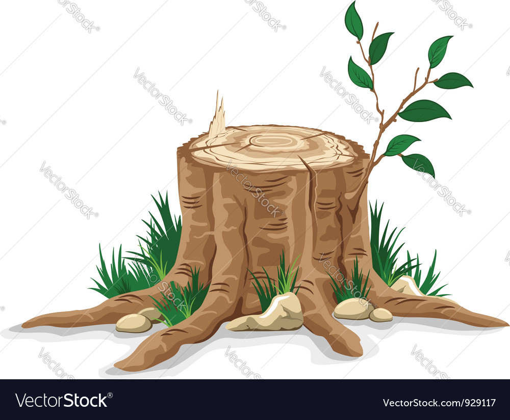 Tree stump vector | Price: 3 Credit (USD $3)