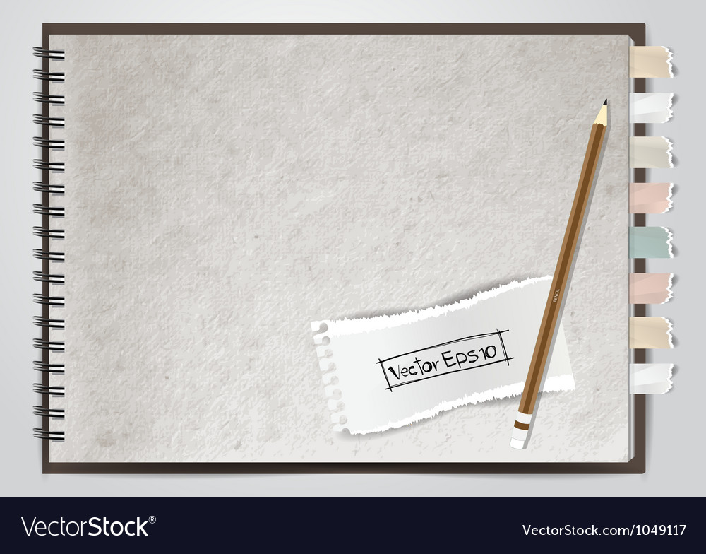 White note book paper vector | Price: 1 Credit (USD $1)