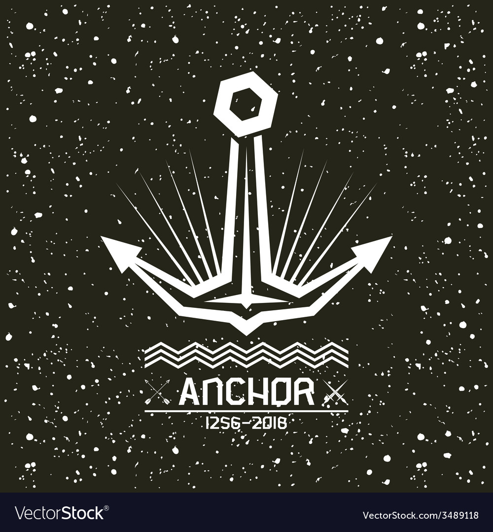 Anchor emblem vector | Price: 1 Credit (USD $1)