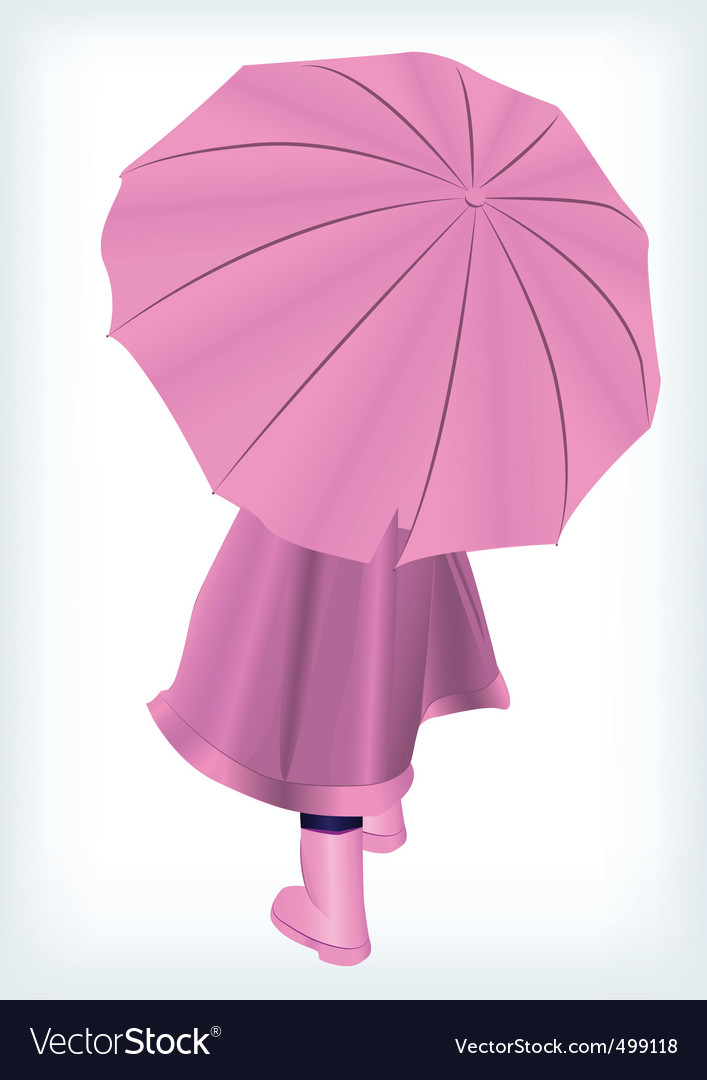 Baby with umbrella vector