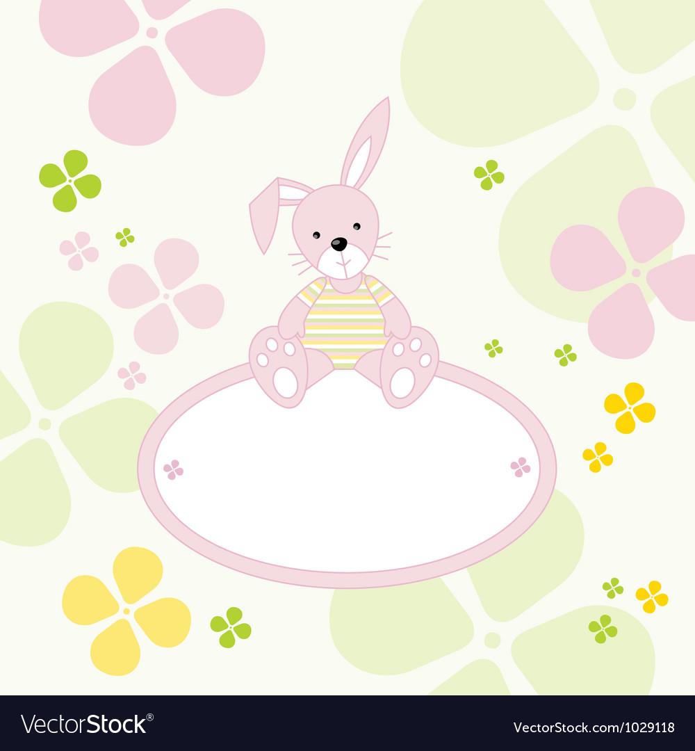 Bunny rabbit frame vector   Price: 1 Credit (USD $1)