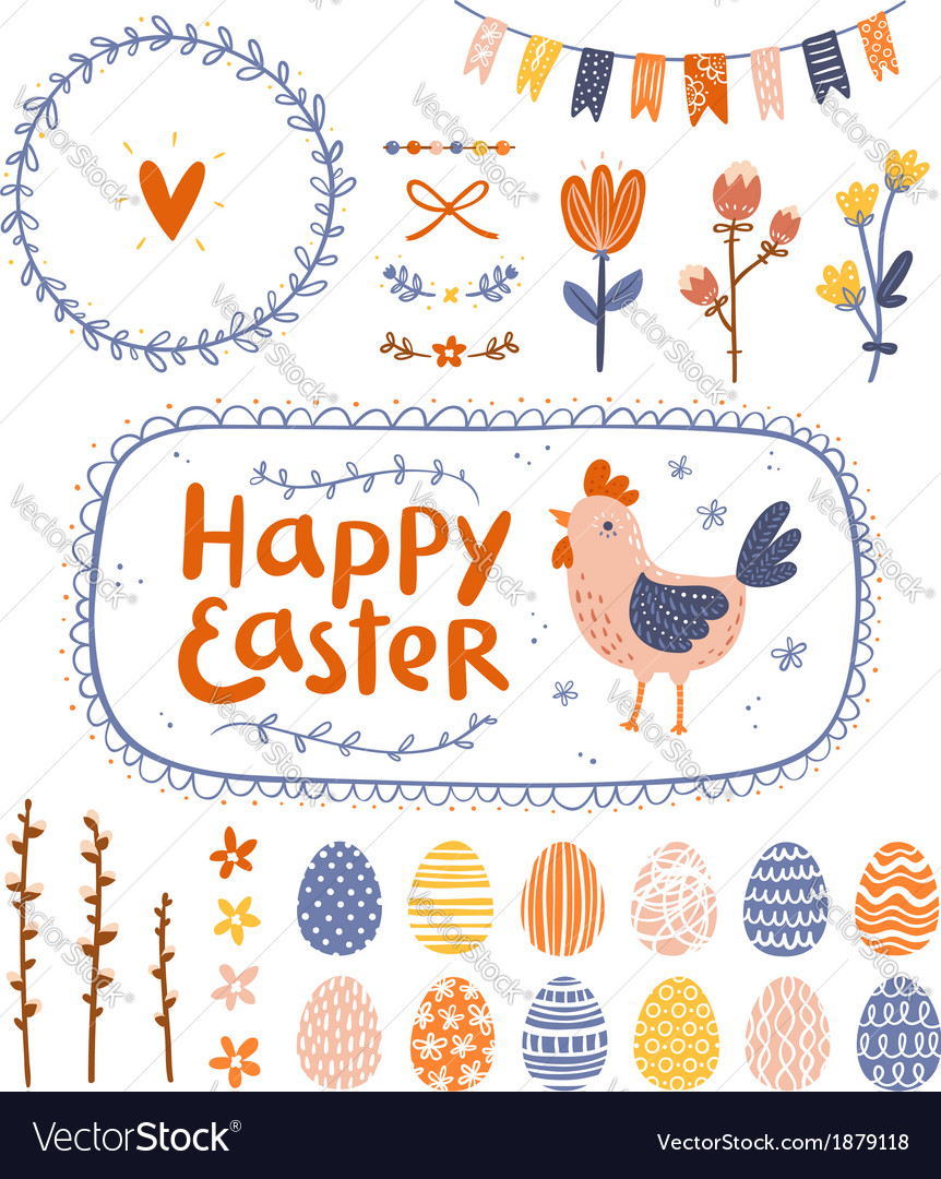 Easter graphic set vector | Price: 1 Credit (USD $1)