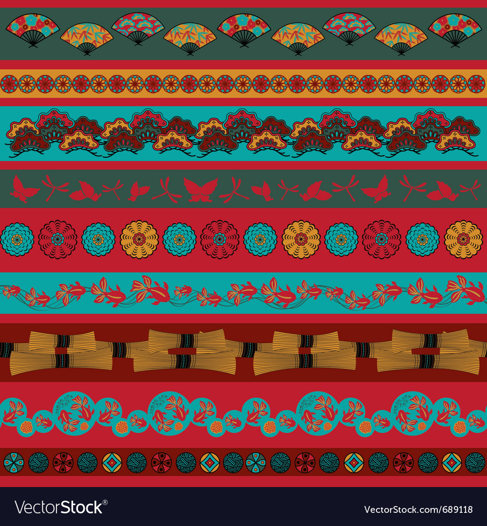 Ethnic japan elements vector | Price: 1 Credit (USD $1)