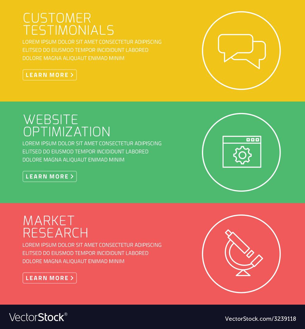 Flat design concept for customer testimonials vector | Price: 1 Credit (USD $1)