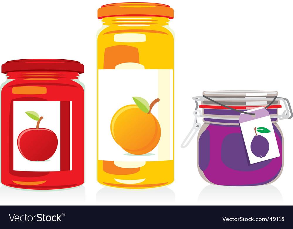 Jam jars set vector