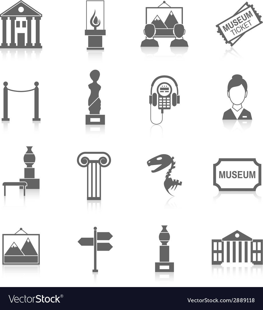 Museum icons black vector | Price: 1 Credit (USD $1)