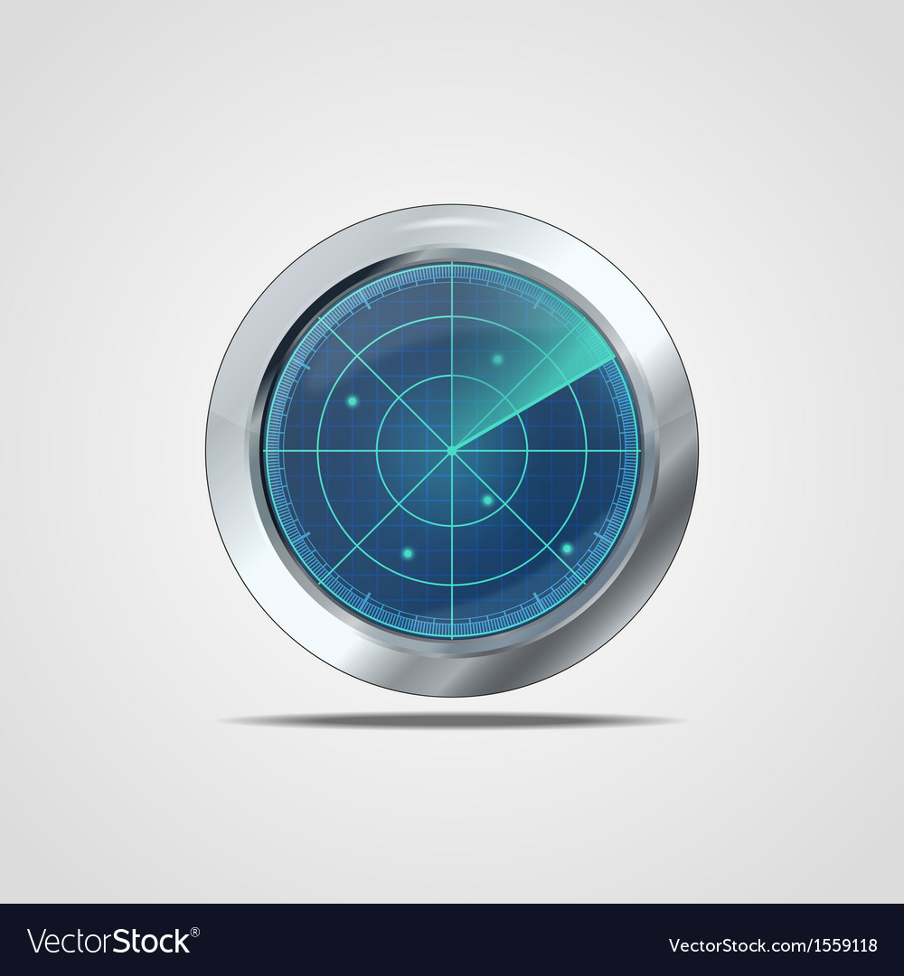 Radar icon vector | Price: 1 Credit (USD $1)