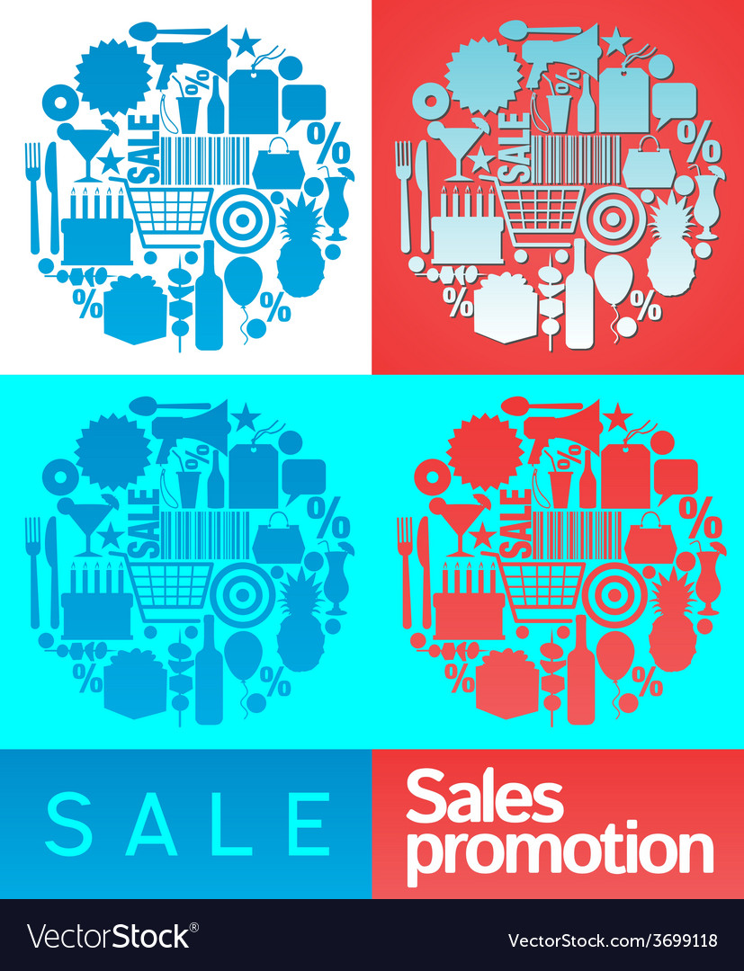Sales promotion collage vector | Price: 1 Credit (USD $1)