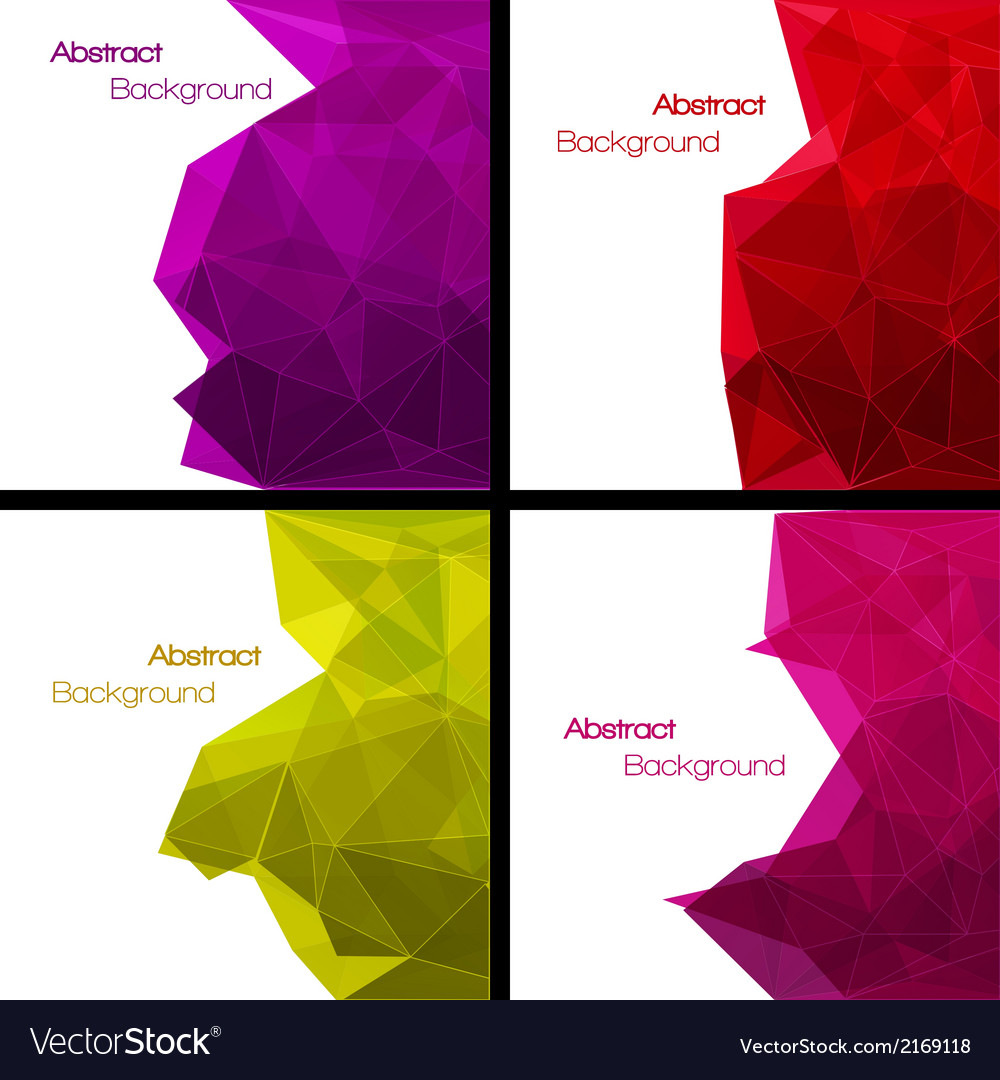 Set of abstract modern style backgrounds vector | Price: 1 Credit (USD $1)