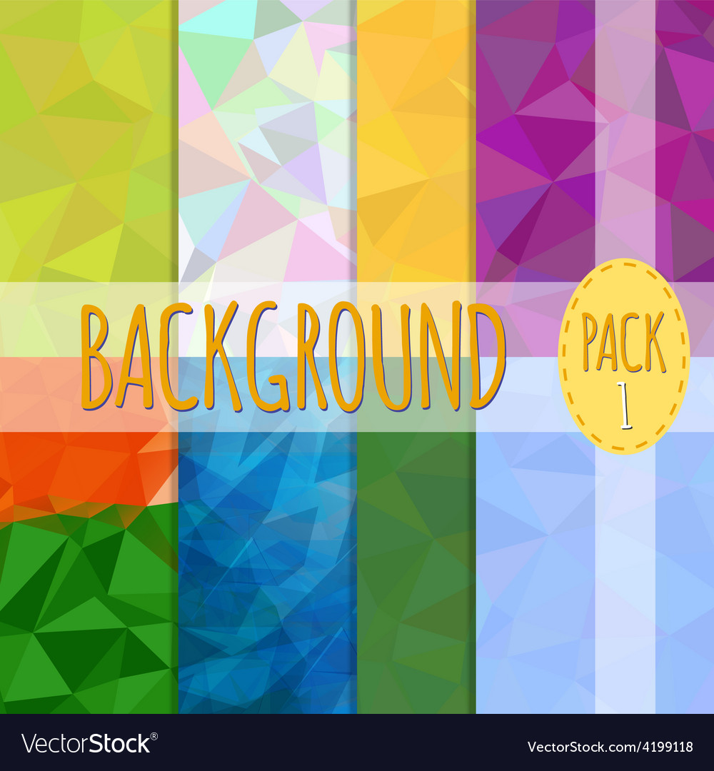 Set of polygonal backgrounds 8 various vector | Price: 1 Credit (USD $1)