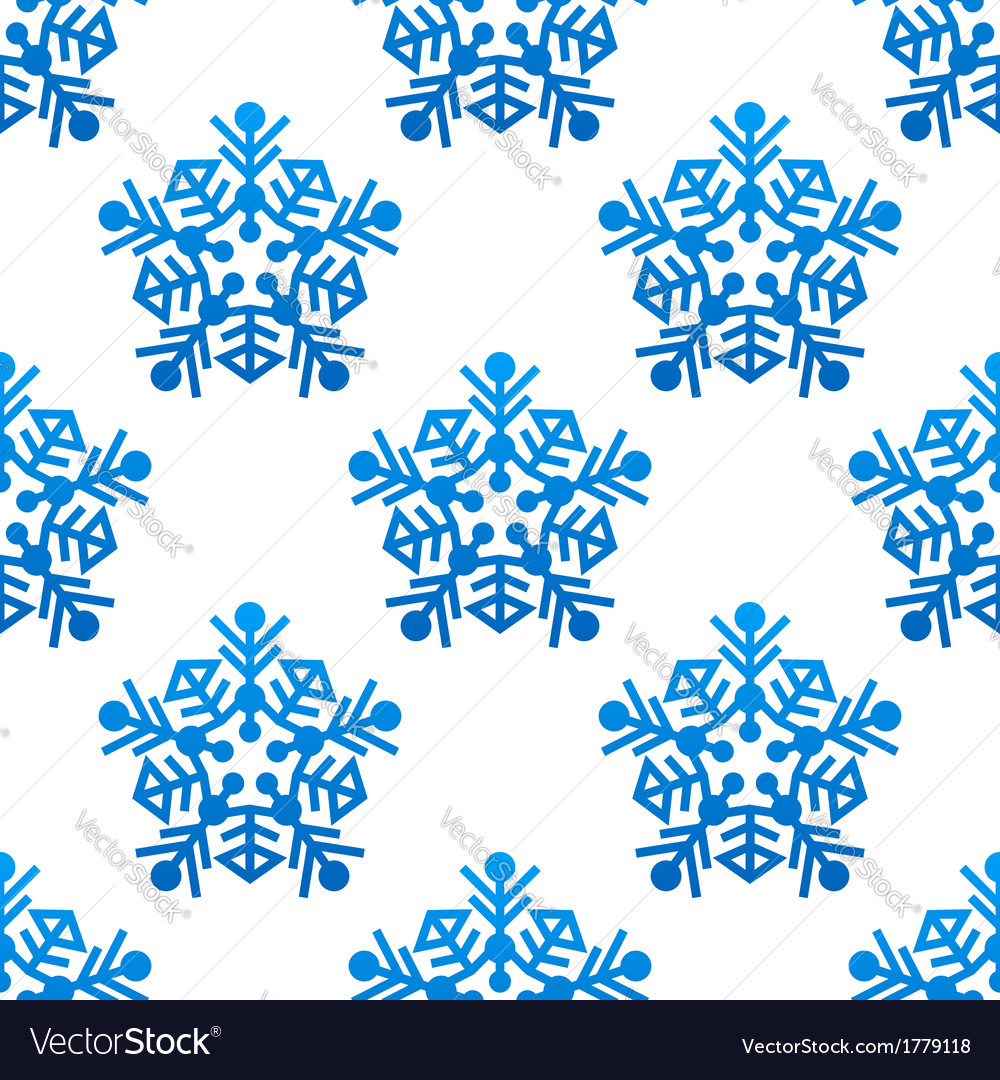 Snowflakes seamless pattern background vector | Price: 1 Credit (USD $1)
