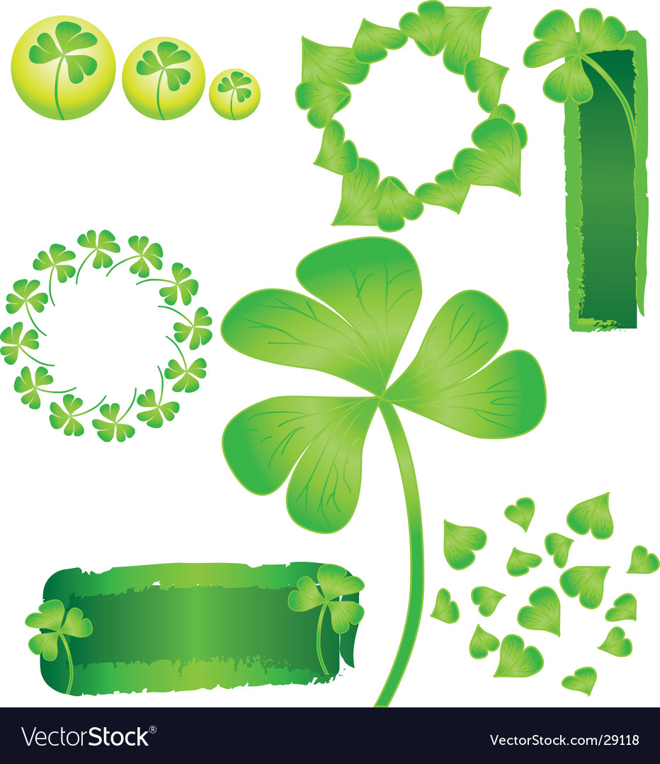 St patrick's shamrock vector | Price: 1 Credit (USD $1)