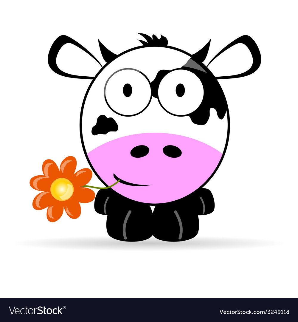 Sweet and cute cow vector | Price: 1 Credit (USD $1)