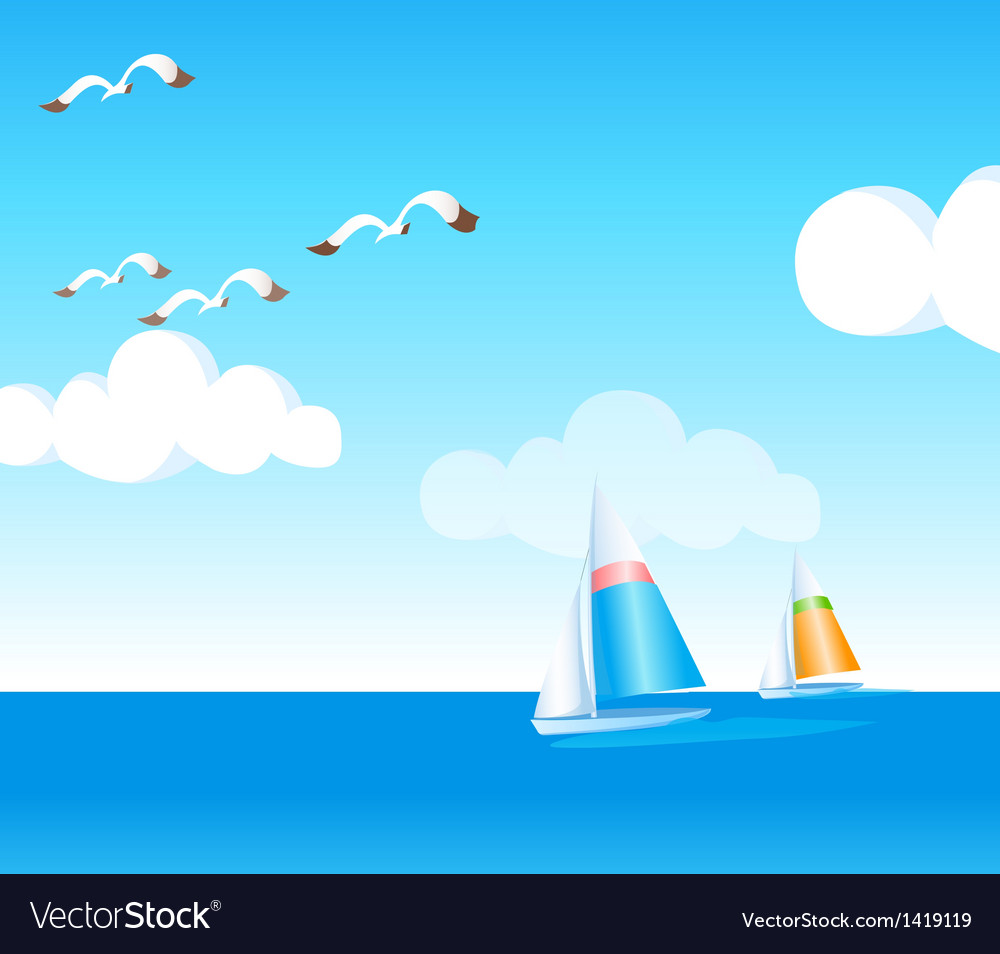 A boat vector | Price: 1 Credit (USD $1)