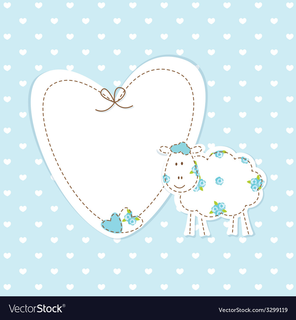 Baby blue background with sheep vector | Price: 1 Credit (USD $1)