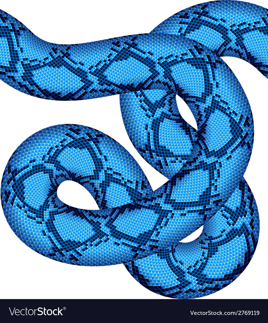 Blue snake seamless vector | Price: 1 Credit (USD $1)