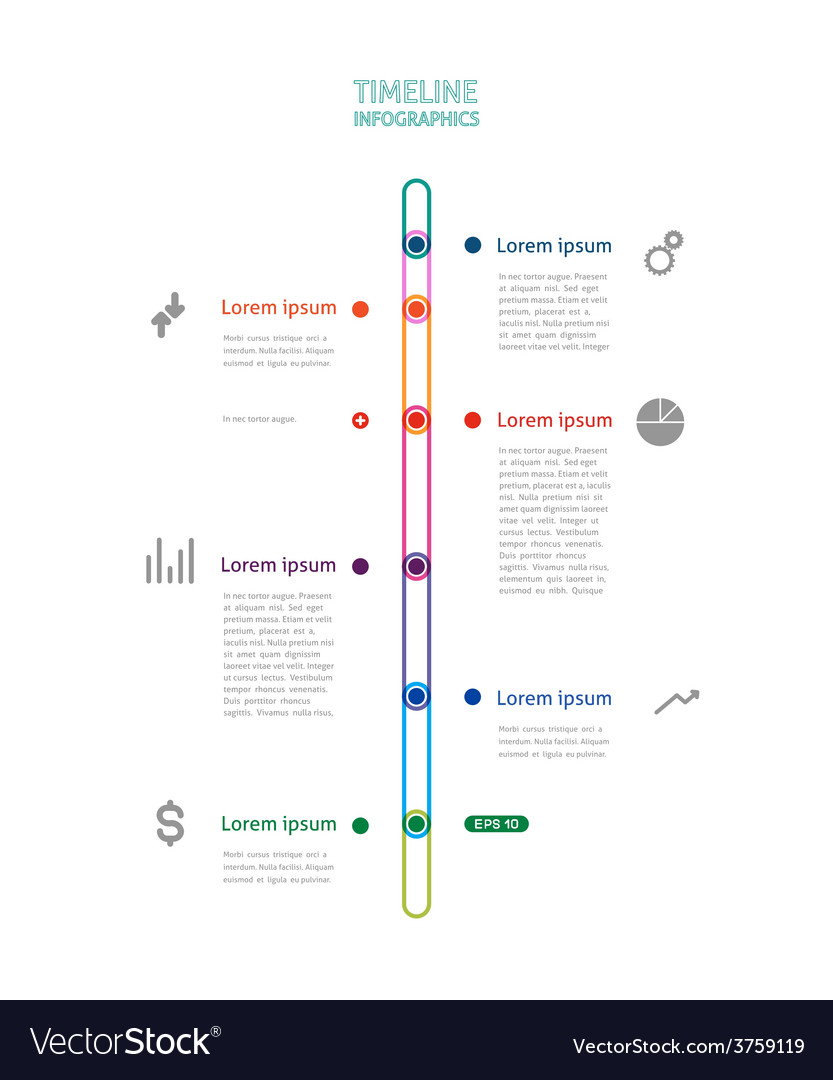 Colorful timeline vector | Price: 1 Credit (USD $1)